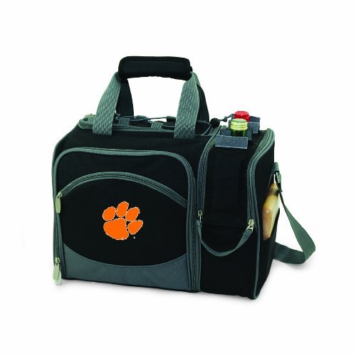 NCAA Clemson Tigers Malibu Picnic Tote with Deluxe Picnic Service for Two by Picnic Time