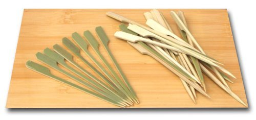 Japanese style Short Cocktail /& cooking Paddle skewers bamboo 9cm x 100
