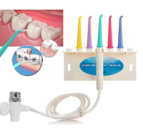 Dental Water Flosser,Angelwill Oral Irrigator Tooth Water Jet Cleaner Water Pick for Braces Dental SPA Unit Oral Hygiene for Home Use Water Tap Faucet Style