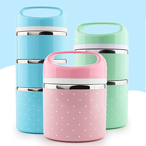 bento lunch box containers mr dakai portable insulated leakproof stainless steel insulated. Black Bedroom Furniture Sets. Home Design Ideas