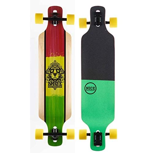 "NICE Longboards Nice Blunt 38.25""X 9hardg Ecomoods Street, multicolore, 9,5x 39"""
