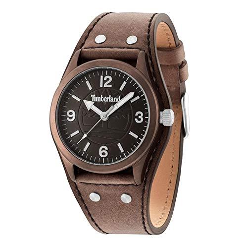 Timberland Reloj Análogo clásico para Hombre de Cuarzo con Correa en Cuero TBL14566JSBN12: Amazon.es: Relojes