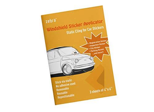 Zebra Windshield Sticker Applicator - Static