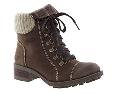 Skechers Womens Ladies Brown Suede Trendy Lace Up Walking Boots Size