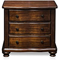 Furniture of America Averia Traditional Nightstand, Brown Cherry