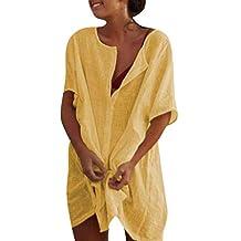 Swiusd-Dresses Women's Tunic Dress -Fabric Upgrade- Casual V-Neck Solid Color Dress Boho Dress Summer
