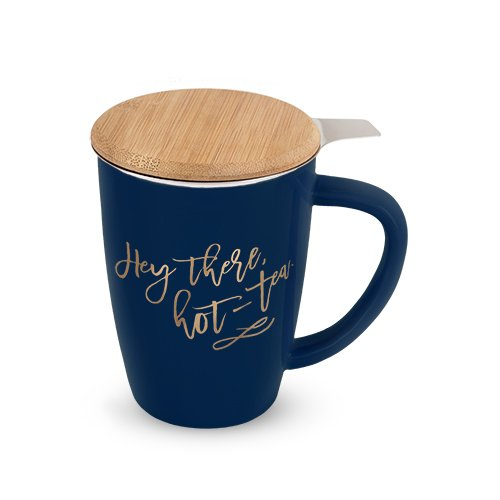 Pinky Up 5038 Bailey Hey There, Hot Tea Ceramic Tea Infuser Mug Cup Deal (Large Image)