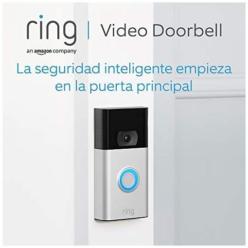 Ring Video Doorbell   Vídeo HD 1080p, detección de movimiento avanzada e instalación fácil (2. Gen)   Incluye una prueba de 30 días gratis del plan Ring Protect