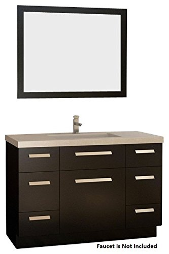 Moscony Espresso Vanity Set w/Single Sink 48'' by Design Element by Design Element