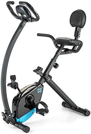 Capital Sports Trajector Bicicleta estática ergómetro Plegable (Masa giratoria 3 Kg, 8 Niveles Resistencia, pulsómetro, Monitor Entrenamiento, indicador Velocidad, Bici Azul): Amazon.es: Deportes y aire libre