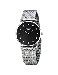 Longines La Grande Classique Diamond Black Dial Ladies Watch L4.709.4.58.6