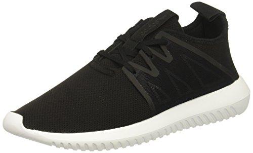 adidas Originals Women's Tubular VIRAL2 W Running Shoe, Black/White, 9.5 Medium US (Adidas Spring Womens)