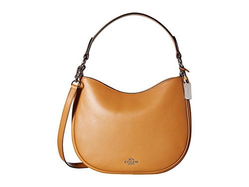COACH Women's Glovetanned Coach Nomad Crossbody Sv/Light Saddle Crossbody Bag