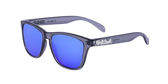 NORTHWEEK Creative Gafas de Sol, Bright Grey/Blue, 52 Unisex ...