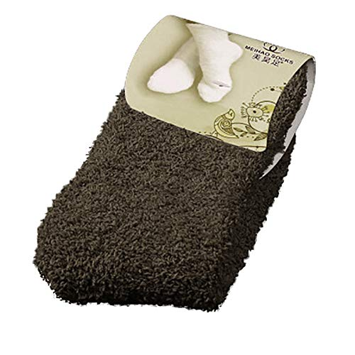 FRENDLY Home Women Girls Soft Bed Floor Socks Fluffy Warm Winter Pure Color Cashmere Socks Keep Warm Socks