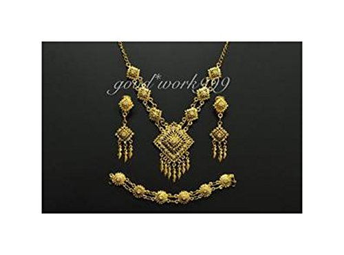 [THAI DANCE RAMTHAI JEWELRY SET (T13) COSTUME WEDDING TRADITIONAL DRESS (JW245)] (Thai Dance Costume)