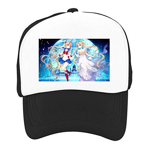 EThomasine Kids Girls Boys Mesh Cap Trucker Hats Sailor Moon Adjustable Hat Black by EThomasine