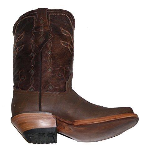 Dona Michi Cowgirl Western Lazer Kutt Ku Skjule Ekte Lærstøvler Cognac