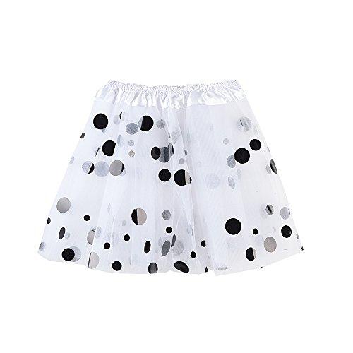 Triple Layer Tulle - SANGQU Baby Girls' Polka Dot Tutu Glitter Ballet Triple Layer Tulle Dance Skirt White