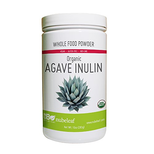Nubeleaf Agave Inulin Powder - Non-GMO, Gluten-Free, Raw, Organic, Vegan Natural Sweetener - Single-Ingredient Nutrient Rich Superfood for Cooking, Baking, Smoothies (10oz ()