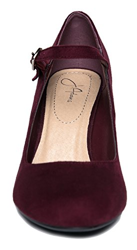 Comfortable Round Vino Skippy Suede Adams Cute Block J Toe Heels Pumps Mary Chunky Jane XgZx0w