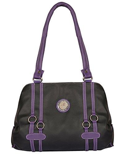Fostelo Women's Gul Medium Shoulder Bag (Black) (FSB-563)