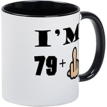 42b8d854 CafePress - Middle Finger 80Th Birthday Mugs - Unique Coffee Mug, Coffee Cup