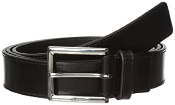 a.testoni Men's Lux Calf Belt, Nero, 32