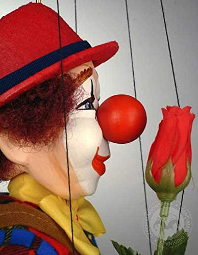 Clown Czech Marionette - Handmade Puppet from Prague