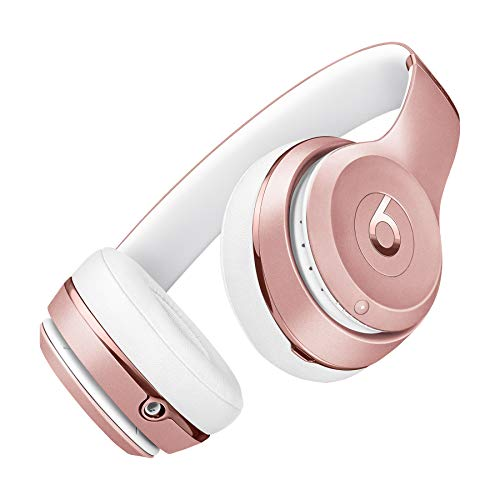 Beats by Dre S.O.L.O_3 Wireless On-Ear Headphones Foldable Bluetooth Over Ear Headphones Suitable for iPhone-iPad-iPod-Mp3 Players-iPhoneplus-iPhoneX-Android (Rose Gold)