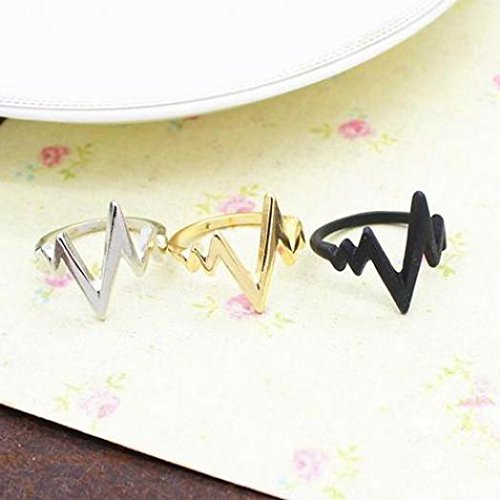 Ameesi Unisex Fashion Zigzag Arrow Shape Band Alloy Knuckle Finger Ring Jewelry Gift