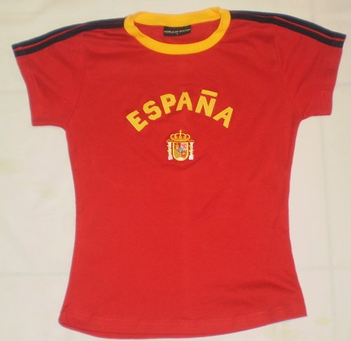 2010 WORLD CUP LADIES SPAIN ESPANA SOCCER JERSEY TSHIRT SIZE LARGE- RUNS SMALL AND FITS LIKE ()