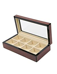 Top Quality Mens Piano Finish Black Wood Watch and Cufflink Organizer Jewelry Box