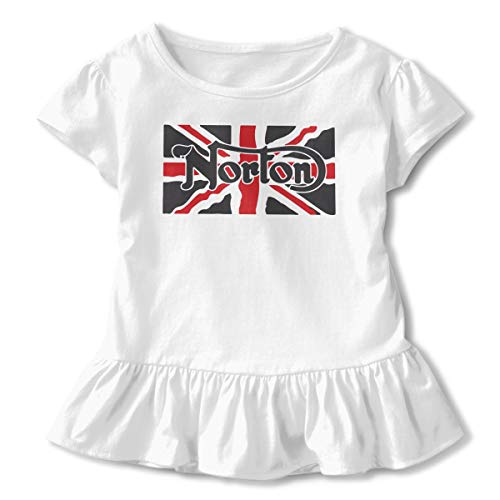 - HYBDX9T Toddler Baby Girl Norton Motorcycle Flag Funny Short Sleeve Cotton T Shirts Basic Tops Tee Clothes White