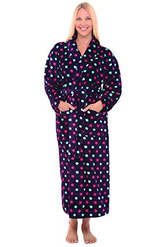 Alexander Del Rossa Womens Fleece Robe, Long Bathrobe, Sm...