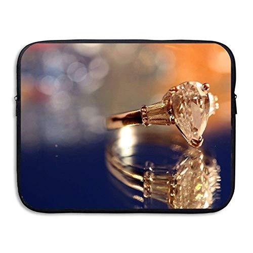 (Water-Resistant Laptop Bags Diamond Ring Ultrabook Briefcase Sleeve Case Bags)