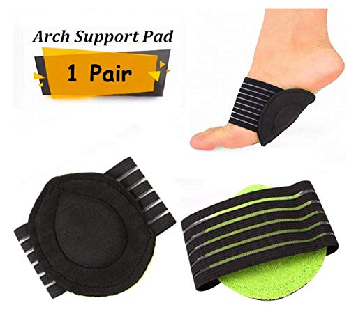 Senfhome 1 Pairs Compression Plantar Fasciitis Cushioned Foot Brace Arches Support Sleeves, Relief Cushions for Men and Women to Comfort Feet