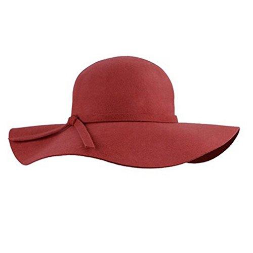 para gorra de campana encantadora Senti mujer lana con sol Estilo negro Accessorystation rojo jugador gorra suave grande de de arco una franja vintage gorro bolas disquete wqg8OaX