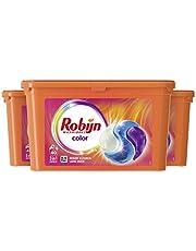 Robijn Color Wasmiddel 3-in-1 Wascapsules, voor de Gekleurde Was - 3 x 40 Wasbeurten - Grootverpakking