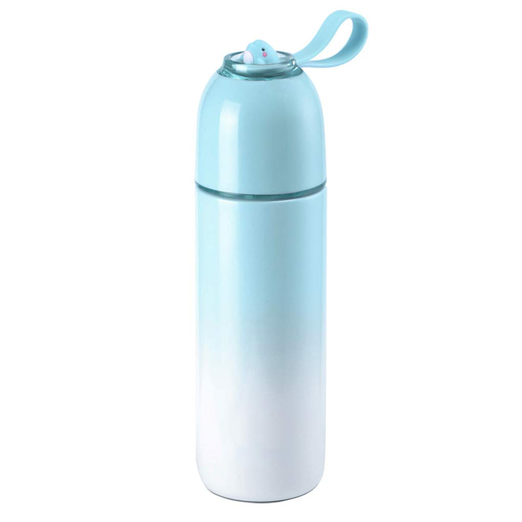 Xqr Insulation Cup Stainless Steel Mug Cup Portable Creative Bullet Cup Water Cup L Fashion Travel Accompanying Cup 380M,Gradientblue
