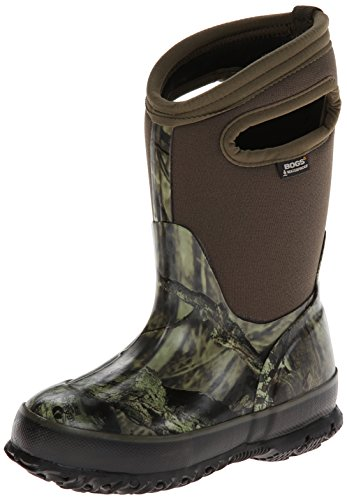(Bogs Classic High Waterproof Insulated Rubber Neoprene Rain Boot Snow, Camo Mossy Oak/Green/Multi 13 M US Little Kid)