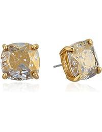 small square black patina stud earrings