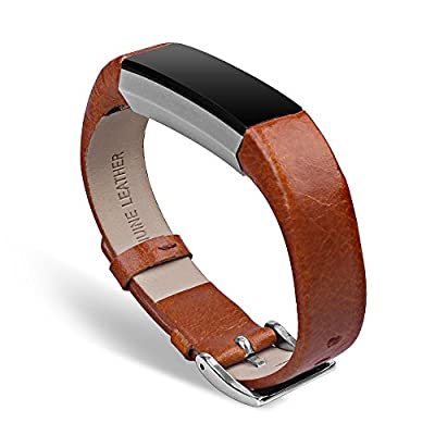 "UMTELE Genuine Leather Bands for Fitbit Alta Smart Fitness Tracker 5.5""-8.1"""