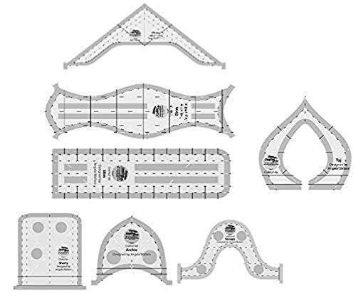 Grid Machine - Creative Grids Machine Quilting Tools Rulers - Taj, Elvira, Chevy, Squiggy, Shorty, Slim, Archie