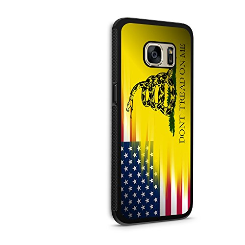 American Gadsden Flag Galaxy s7 Edge Hybrid Rubber Protective Black Case USA Don't Tread on - American Mail Tracking