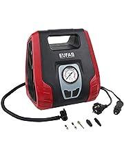 EUFAB 21076 Dual Power compressor met 12 V en 230 V aansluiting.