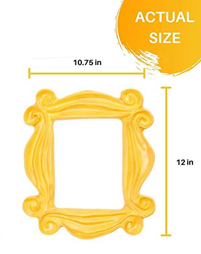 Handmade Yellow Peephole Frame as seen on Monica's Door on Friends TV Show (Yellow Picture Frame From Friends)