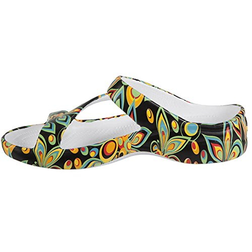 Dawgs Womens Arch Support Loudmouth Z Sandali Shagadelic Black