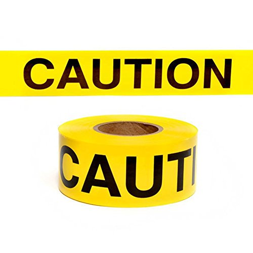 """Domeiki Yellow Caution Tape (Made in USA) 3"""" inch X 1000' Ft. Rolls Safety Barrier Polic from Domeiki Home"""