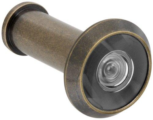 [Stanley Hardware V805 Door Viewer in Antique Brass] (Antique Brass Solid Door)
